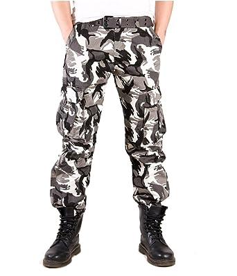 c8dd318bc0016 Tonwhar 2015 Men's New Style Camouflage Hunting Cargo Pant (28, black white)