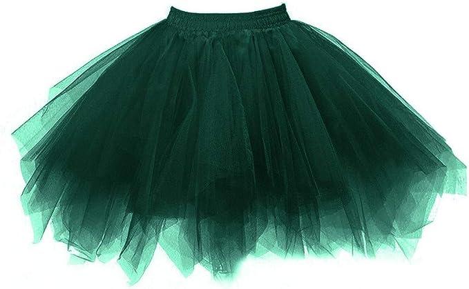HOUMENGO - Falda de Tul para Mujer, Falda Plisada, tutú, Falda de ...