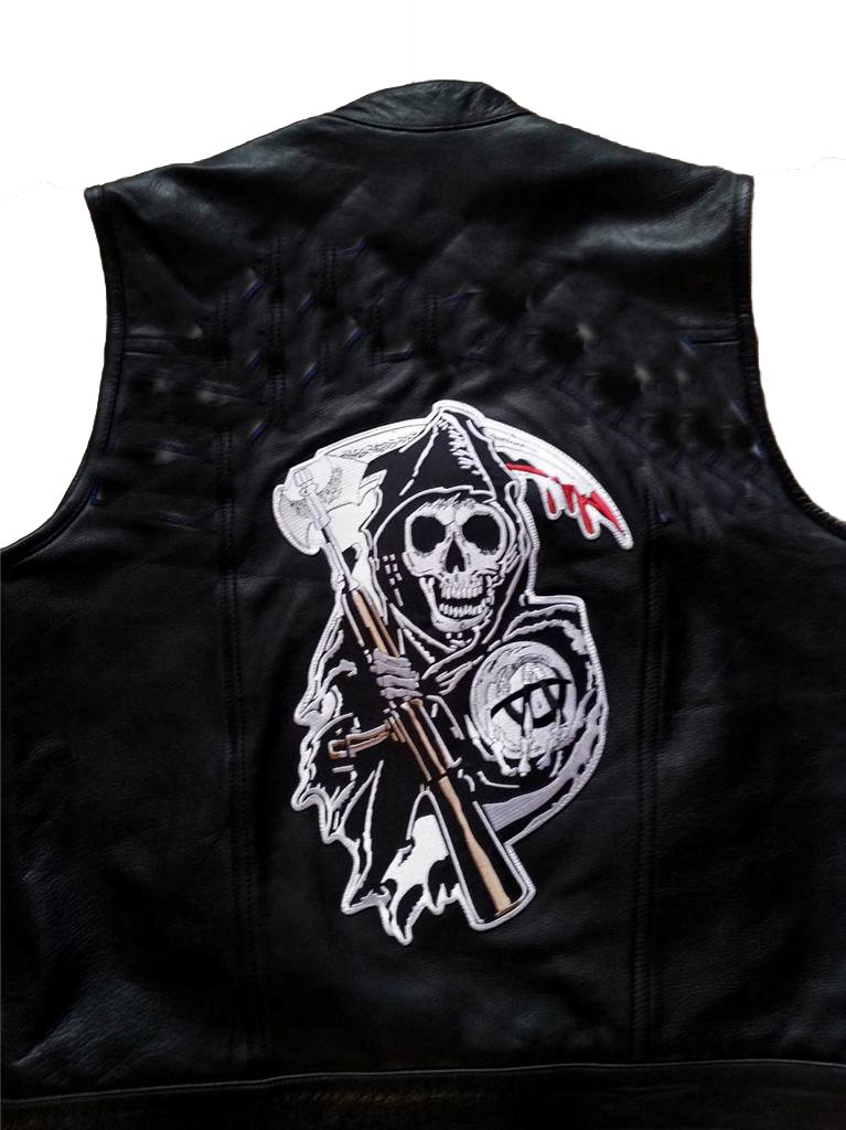 Sons of Anarchy Grim Reaper Center Patch Spider Patch