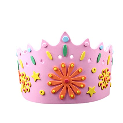 bestoyard birthday crown hats happy birthday letter paper tiara crown party supplies for kids diy
