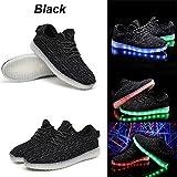Smallcar 7 Colors LED Luminous Fashion Sneakers Unisex Flashing LED Light Up Shoes Leisure Shoes for Men & Women (8 D(M) US, Black)
