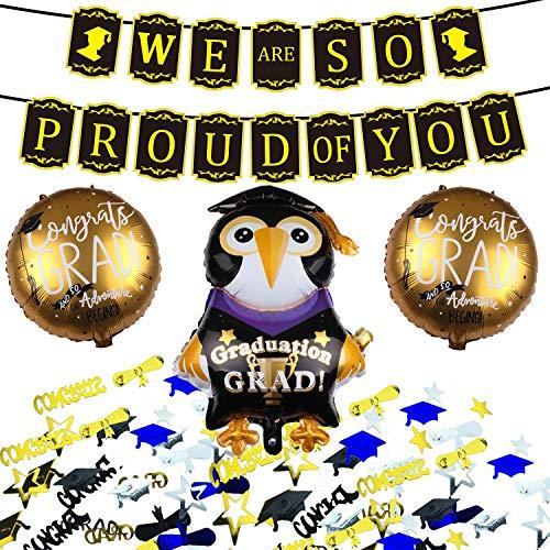 Graduation Balloons Decorations Grad Banner Party Supplies 2019 Decor Kit