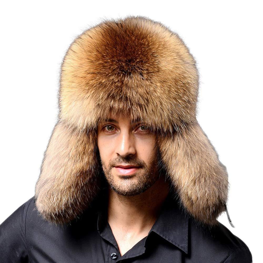 Liyukee Cappello da Uomo in Pelliccia Sintetica con paraorecchie Spesse e Calde Stretch for Winter Warm cap