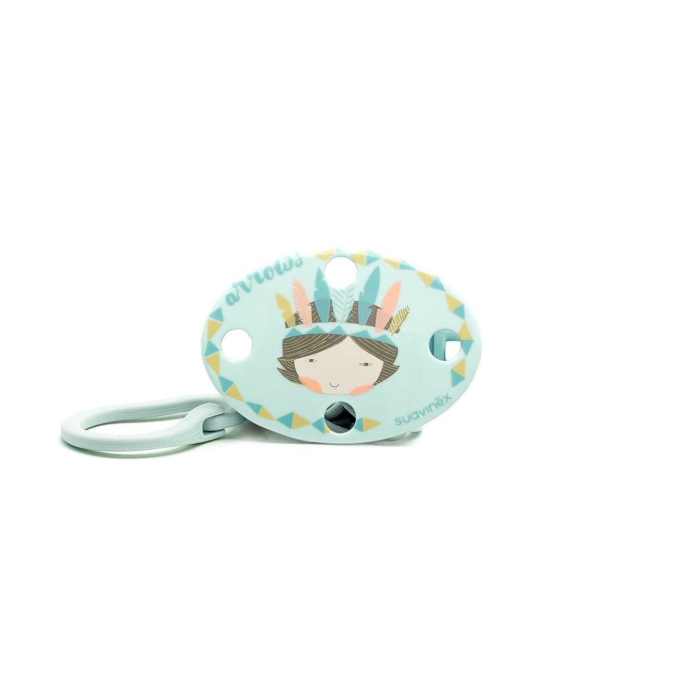 Suavinex 302605 - Broche ovalado indios, color azul 3150731