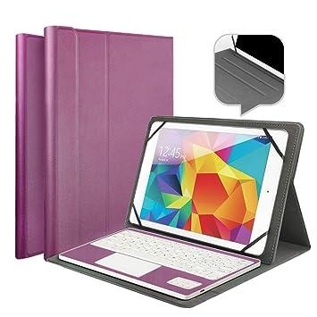 Wasan Funda con Teclado en Español Bluetooth Touchpad QWERTY Batería Recargable, PU Estuche de Piel para Windows Androis Tablet 9.7