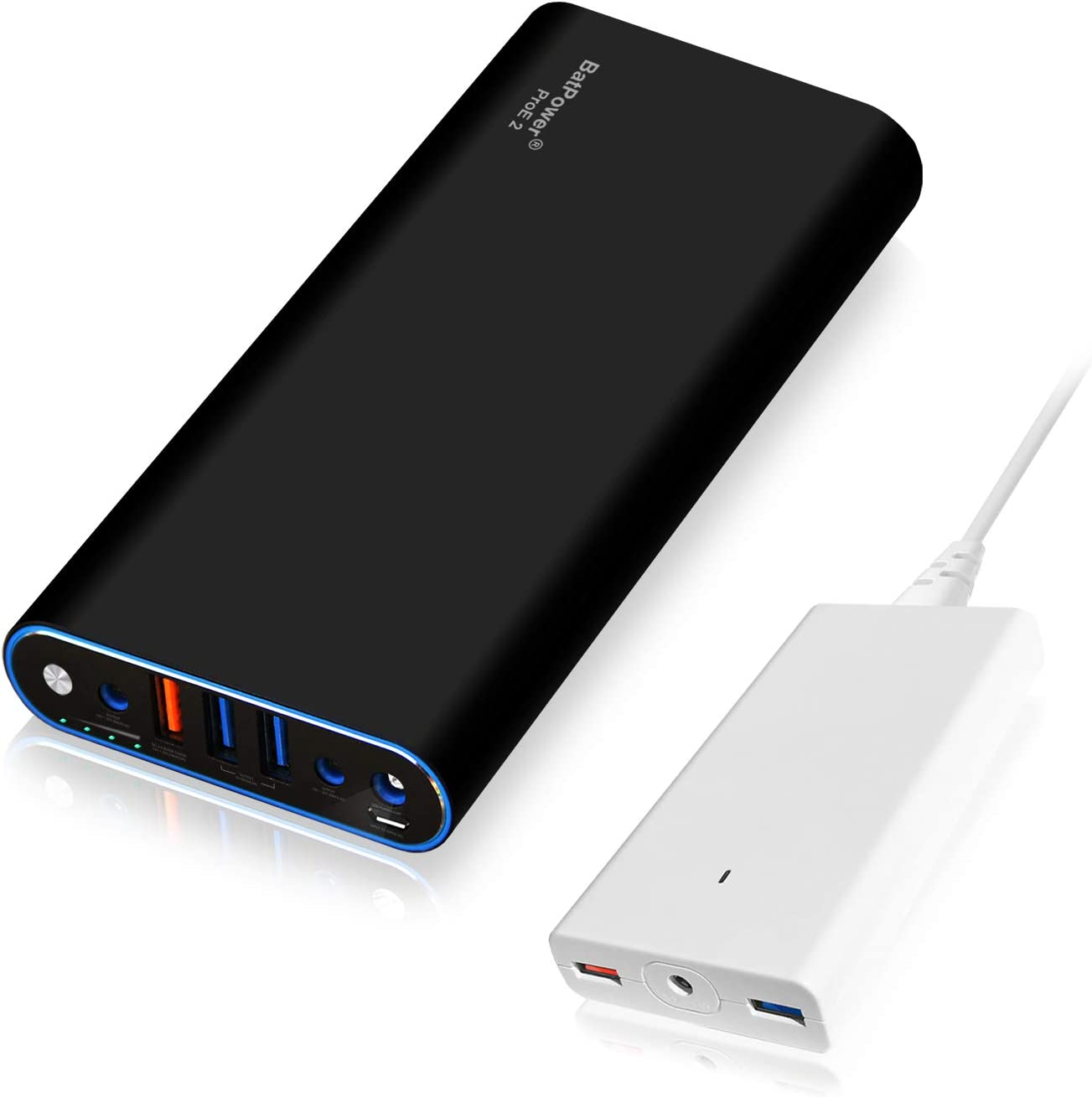 BatPower ProE 2 EX10B Portable Charger External Battery Power Bank for Apple MacBook Pro MacBook Air Mac Retina 2006-2015 Laptop, QC 3.0 USB Ports Fast Charging for Tablet and Smartphone -148Wh