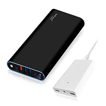 BatPower ProE 2 EX10B Power Bank Cargador portátil Batería Externa para Apple Macbook Pro Macbook Air Mac Retina 2006-2015 Laptop, QC 3.0 USB para ...