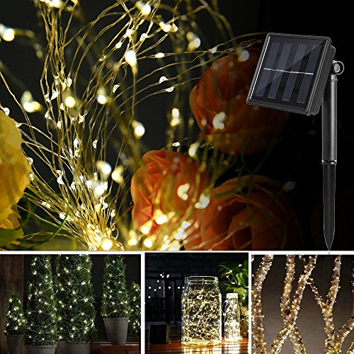 Solar String Lights, Ankway 200 LED Solar Fairy Lights 3-Strand 8 Modes 72 ft Waterproof IP65 Solar Powered String Lights Outdoor for Home Window Bedroom Patio Garden Indoor Warm White by Ankway (Image #6)