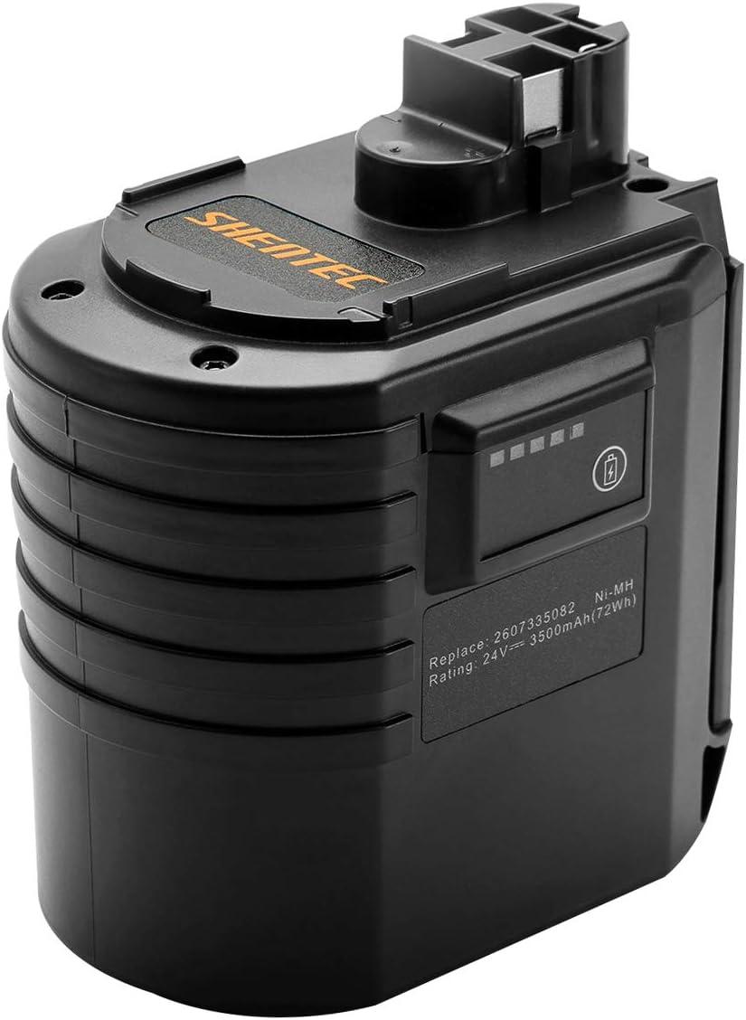 Shentec 24V 3.5Ah Ni-MH Batería para Bosch BAT019 BAT020 BAT021 GBH 24VRE GBH 24VFR GBH 24VSR BBH 24VRE 11225VSR 2607335082 2607335216 2607335190 2607335163