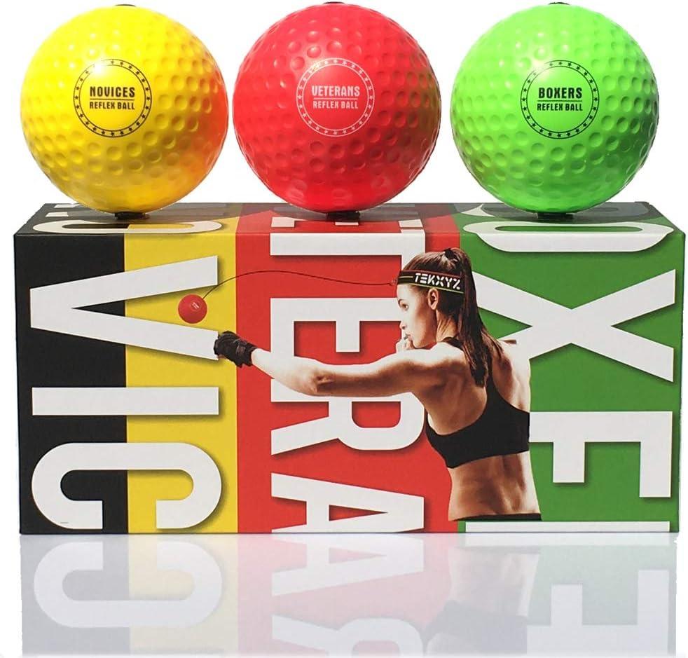 Amazon.com : TEKXYZ Reflex Ball Upgraded Set - Comfortable ...