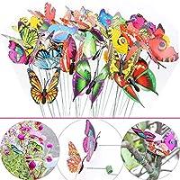 Estacas de mariposas LeBeila - Adornos para jardines y decoraciones para el patio Mariposas Decoraciones de mariposas a prueba de agua para macetas para macetas de interior /exterior, 24 piezas Productos de Navidad y fiestas Manualidades (24)