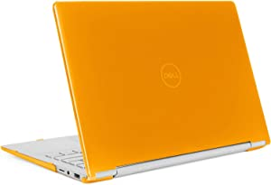 """mCover Hard Shell Case for 13.3"""" Dell Inspiron 13 7391 2-in-1 Convertible Laptop Computers (Orange)"""