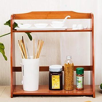 JWZ Sartenes De Condimento Cocina Condimento Estante De Madera Maciza Soporte Sazonador Caja De Almacenamiento (Color : B): Amazon.es: Hogar