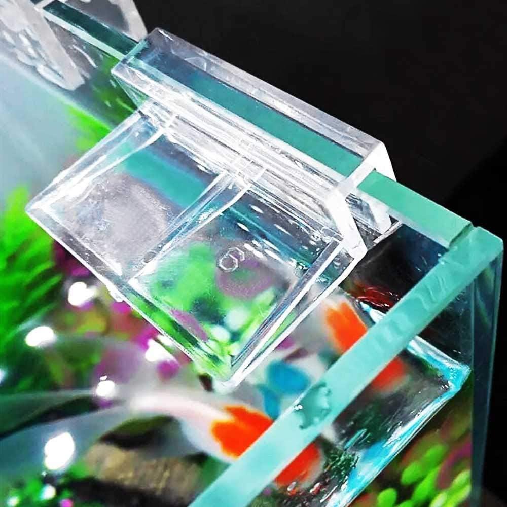 20 Pezzi Clip per Coperchio in Vetro per Acquario,Staffa per Coperchio per Acquario,Supporto per Acrilico per Acquario,Clip per Coperchio Universale Multifunzione,Adatto per Vetro 5-6mm,Trasparente