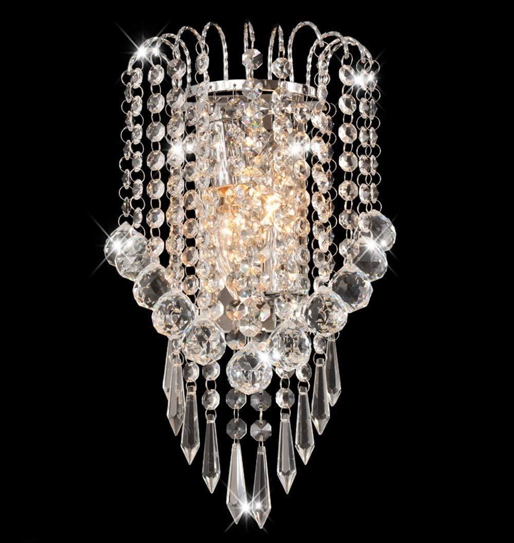 YWJWJ Lampada da Parete in Cristallo Lampada da Comodino Moderna Semplice da Comodino