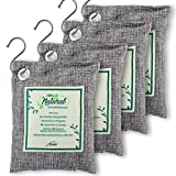 Air Purifier Bags with Bamboo Activated Charcoal (Purifying Pack of 4) | Natural Air Freshener...