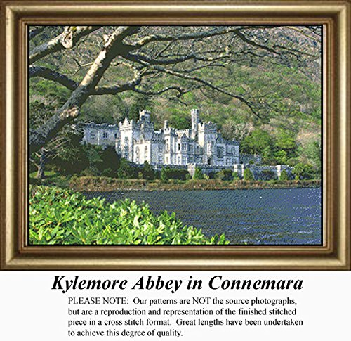 Kylemore Abbey in Connemara, Irish Counted Cross Stitch Pattern (Pattern Only, You Provide the Floss and Fabric)