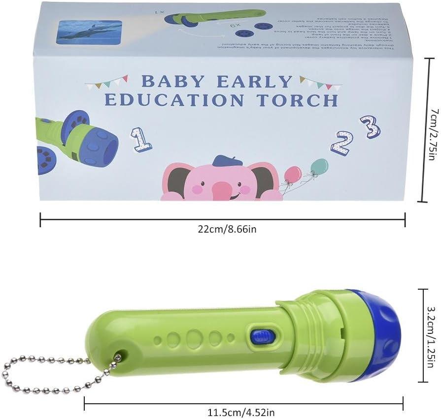Antorcha proyector de Historias para Beb/és Ni/ños Regalo Creativo Linterna de Juguete Luminoso m/áquina de Aprendizaje de proyectores entregados Clase de eficiencia energ/ética A +
