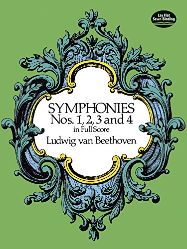 Symphonies Nos. 1, 2, 3 and 4 in Full Score (Dover Music Scores) (Dover 1)