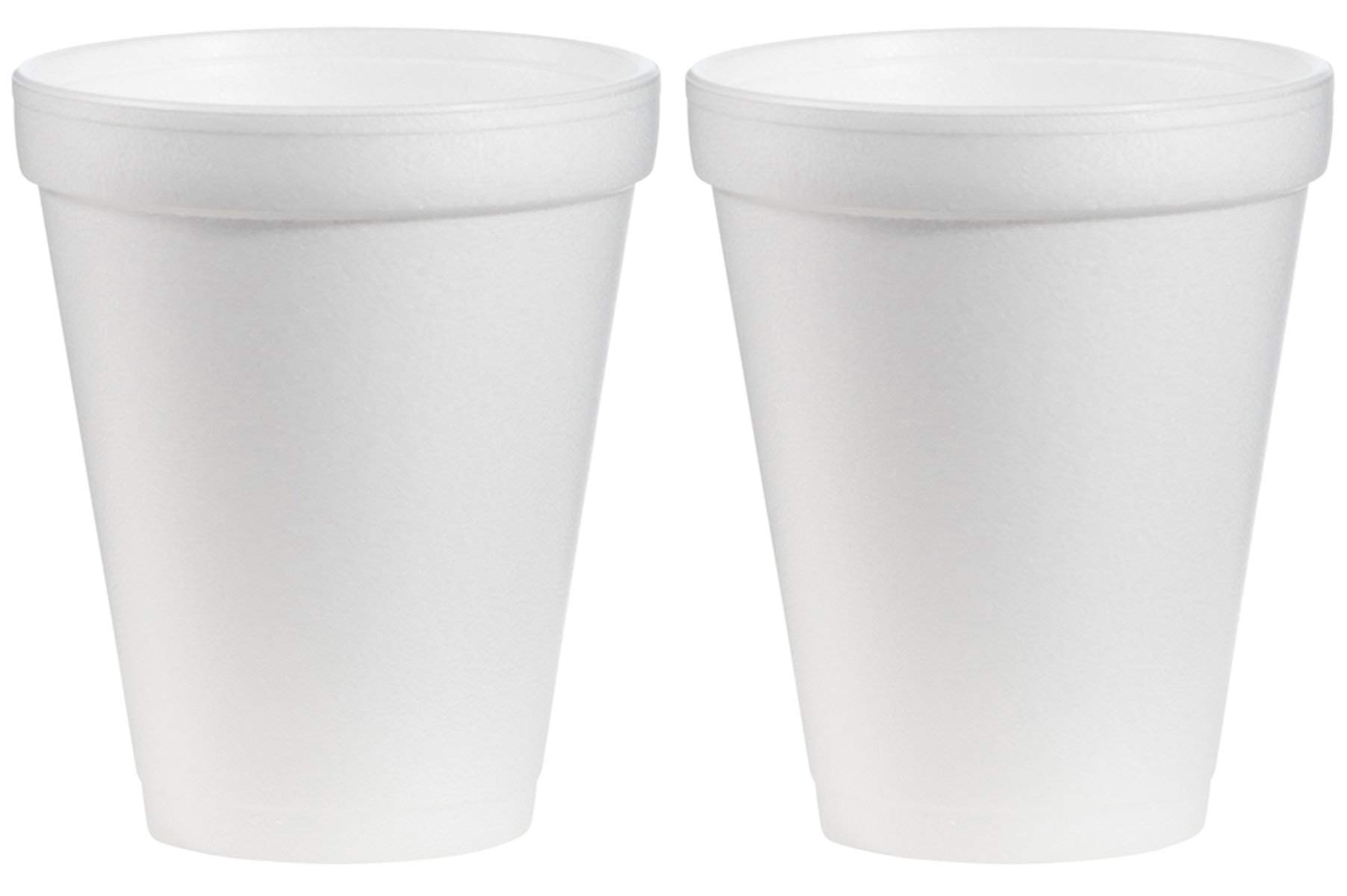 FBFAKQDD Foam Drink Cups, 12oz, White, 2 Cases of 1000 Cups