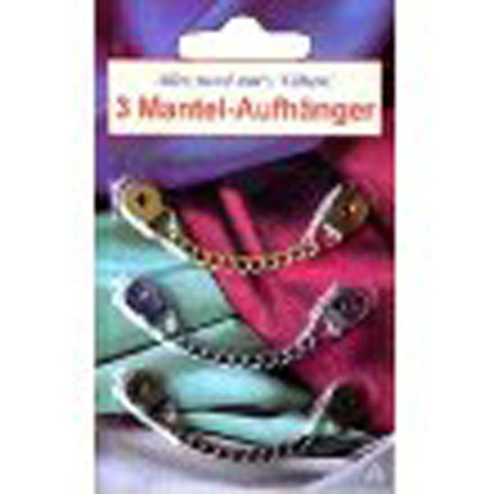 Kleiber Mantelaufh/änger aus Metalll Gold//Silber//schwarz 3-er Set