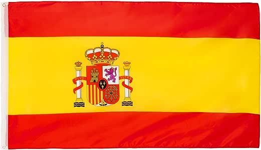 Bandera Brubaker de España, 150 x 90 cm, con ojales para izarla: Amazon.es: Deportes y aire libre