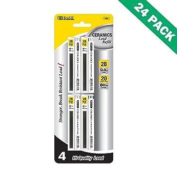 2B Portaminas 0,9 mm, para portaminas, 24 por caja (4/paquete): Amazon.es: Oficina y papelería