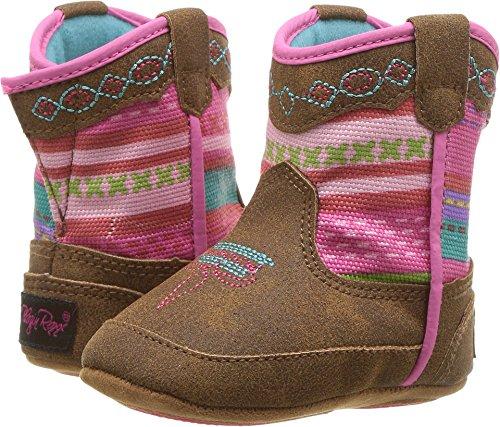 M&F Western Baby Girl's Camilla Bucker (Infant/Toddler) Medium Brown Distressed 3 M US Infant]()