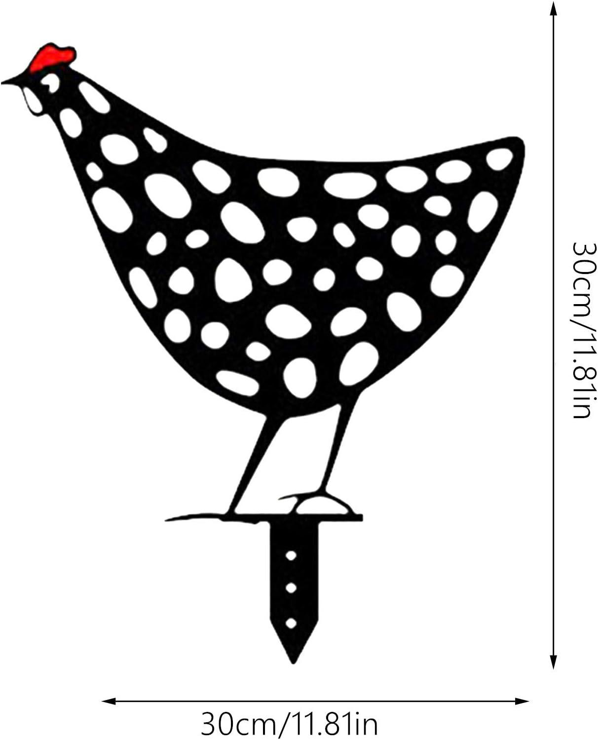 D/écoration de jardin 5 pi/èces Chicken Yard Art Dasongff D/écoration dext/érieur en m/étal avec poule r/éaliste en forme de poule D/écoration de jardin