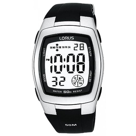 Lorus R2301CX9 - Reloj de caballero de cuarzo con correa negra - sumergible a 50 metros: Amazon.es: Relojes