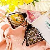 handrong 100pcs Sheer Drawstring Organza Gift Bags