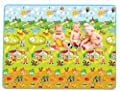Olyer Extra Large Farm Park + Alphanumeric Pattern on Both Sides Eco-friendly Baby Care Crawl Kids Play Mat