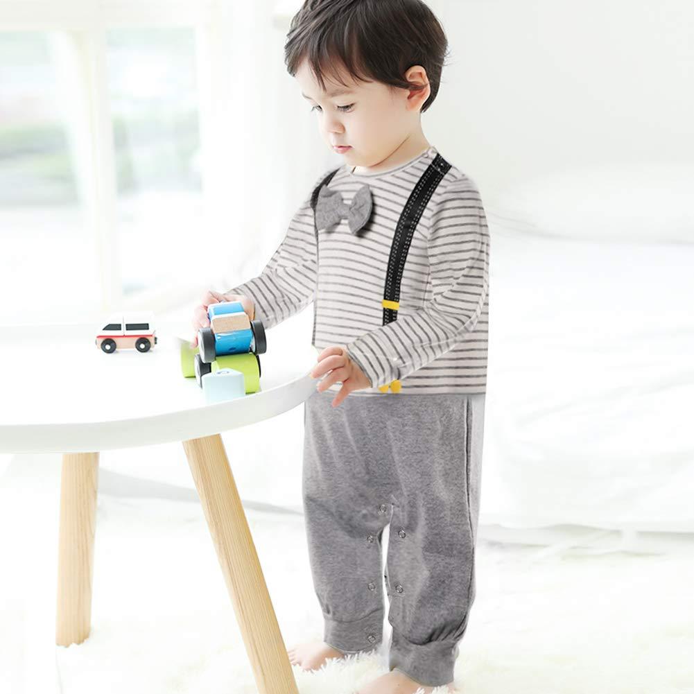 Mamelucos para beb/és Monos Mono Onesies Trajes de Manga Larga Animales y Rayas Dise/ñados para beb/és peque/ños