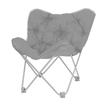 Urban Shop Butterfly Chair, Adult, Grey