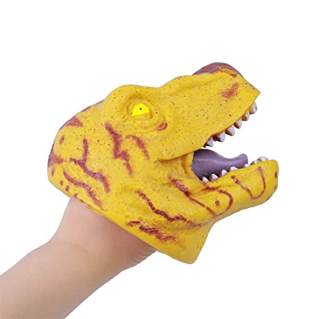 Webla Toy, Yellow Dinosaur Puppet, Silicone: Amazon.es ...