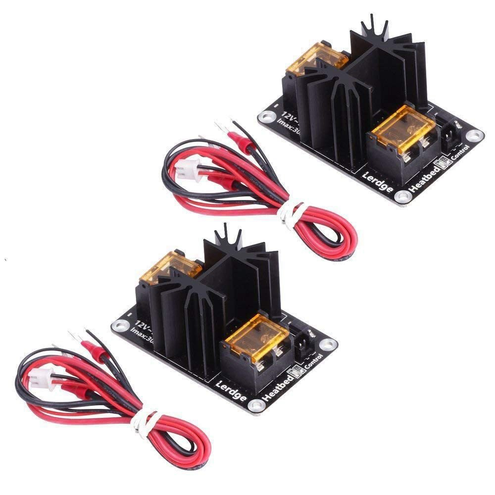 SODIAL 2 Pack Upgraded Heat Bed Power Module Expansion Hot Bed Mosfet MOS Tube for Extruder, Ramps, ANET A8/A6/A2, Makerbot MK8, RepRap, Mendel, Prusa i3, E3D V6 3D Printer 167006