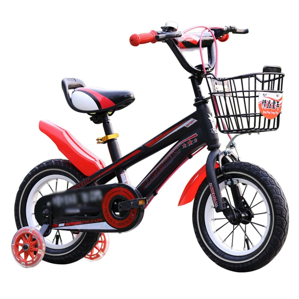 YANGFEI 子ども用自転車 フリースタイルキッズバイク、トレーニングホイール、12インチ、14インチ、16インチ、18インチ、ボーイのバイクとガールズバイク、子供のためのギフト 212歳 B07DWWDPFW 16 inch|赤 赤 16 inch