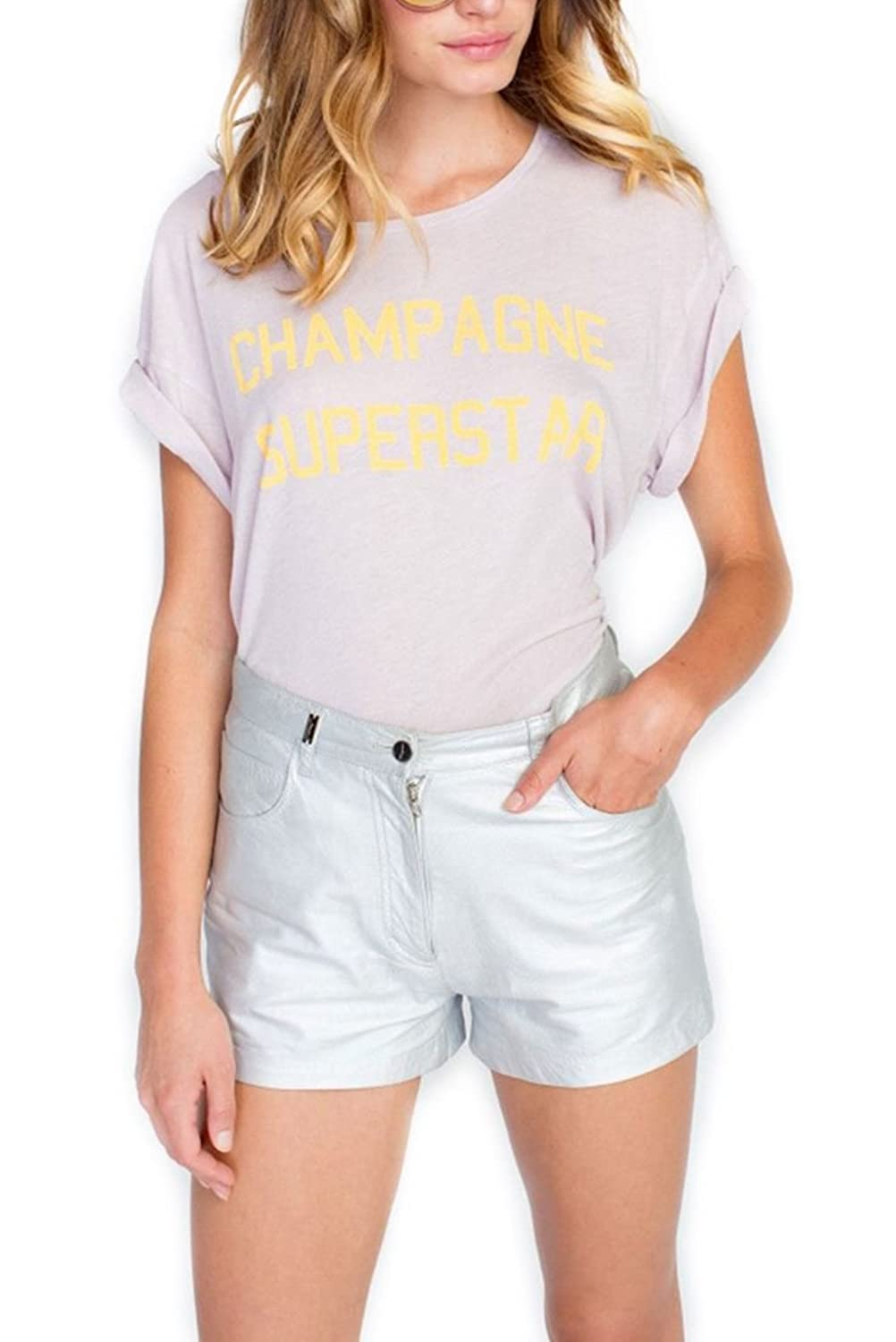 Wildfox - Champagne Superstar Manchester Tee - Lilac Dawn