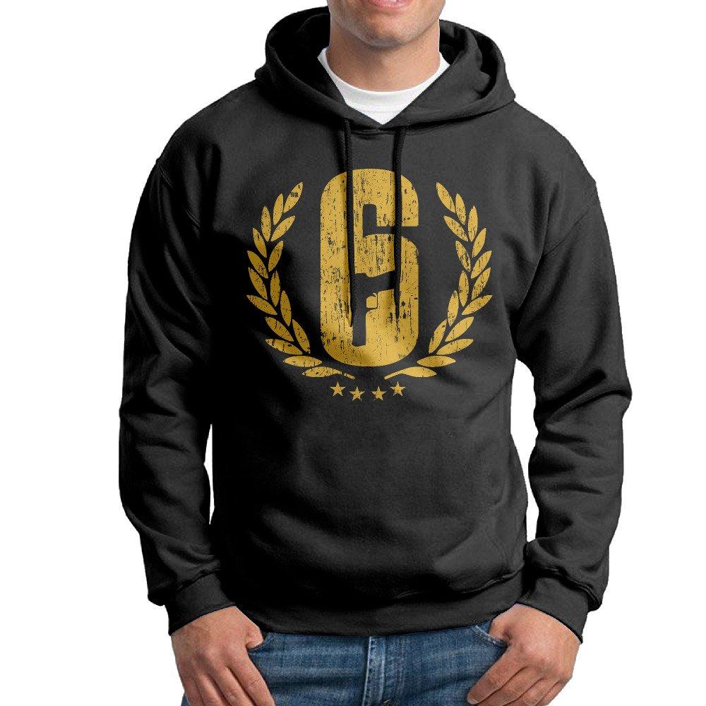 Rainbow Six Siege Logo Mens Cotton Hooded Sweatshirt Black FLUBOY