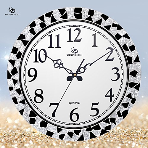 Jedfild The living room wall clock stylish and trendy, minimalist modern Home Decorating Ideas white mosaic Clock
