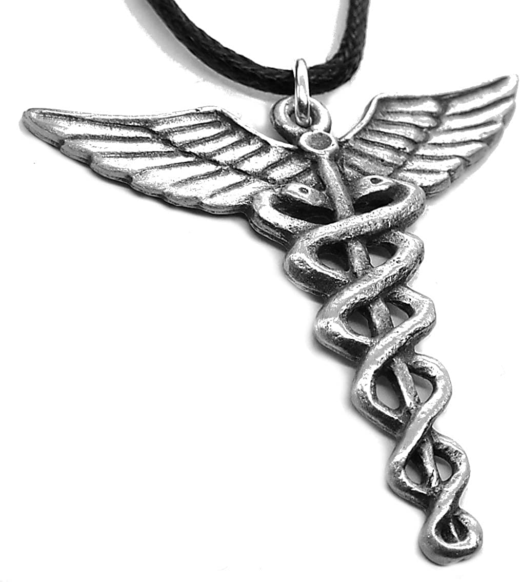 Caduceo colgante de estaño (Personal de Hermes de collar): Amazon ...