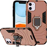 Ferilinso Case for iPhone 11 Cases, Stylish Dual Layer Hard PC Back Case with Ring Grip Kickstand & Support Magnetic Car Moun