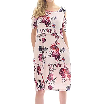 296ee0518e86d Amazon.com : Toponly Women Casual Floral Print Maternity Dress Nursing  Breastfeeding Nightgown Dress with Pockets : Toys & Games