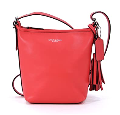 d71de33b7f Coach Legacy Leather Mini Duffle Crossbody Bag 19901 Bright Coral Orange   Handbags  Amazon.com
