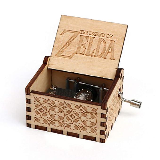 TZSHUQ Caja De Música De Madera Tallada Antigua Caja Musical ...