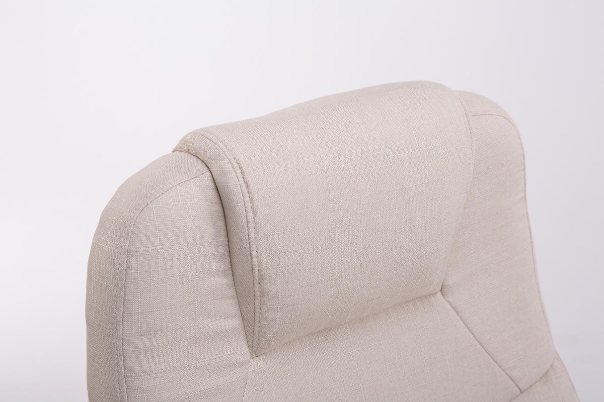 Sedia da Scrivania Ergonomica I Sedia da Pc Girevole con Meccanismo Oscillante I Poltrona Direzionale con Braccioli Carico Max 150 kg Crema CLP Poltrona Ufficio in Tessuto APOLL XL