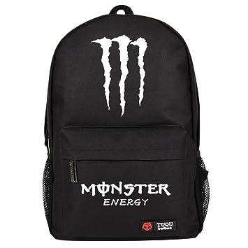 66603e2681d5 モンスターエナジー Monster Energy アウトドア大容量 旅行 リュックサック 高校生 男子 通学 バッグ ブラック