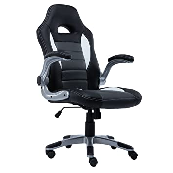 giantex pu leather executive racing style bucket seat chair sporty office desk chair gray bucket seat desk chair