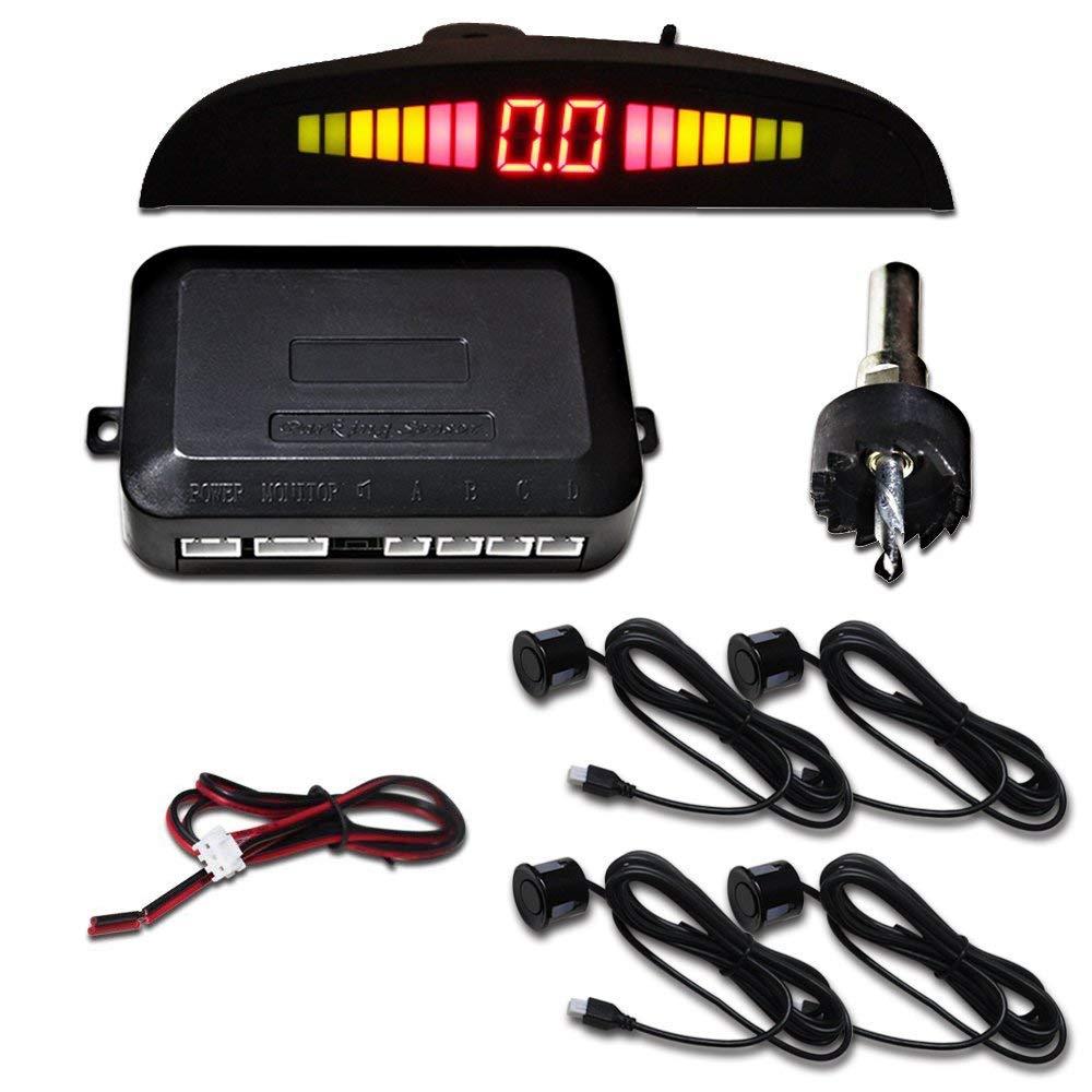 Hengda® Aparcamiento Sensor,Asistente de Aparcamiento Revertir Sensor con Visualizador con Sonido y 4 Sensores (Negro): Amazon.es: Coche y moto