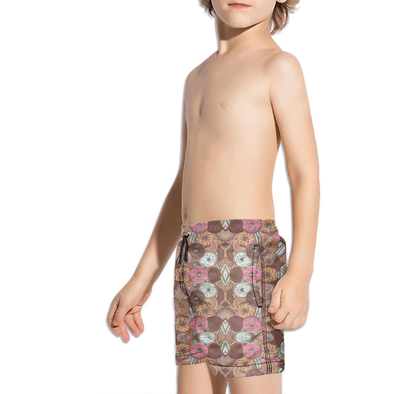 XULANG Kids Boys Girls Sweet Doughnuts Donuts Board Shorts Watersports Swimming Cool Boardshorts